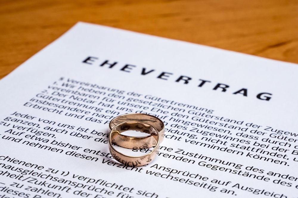 Ehevertrag: Diese Klauseln sind nicht erlaubt