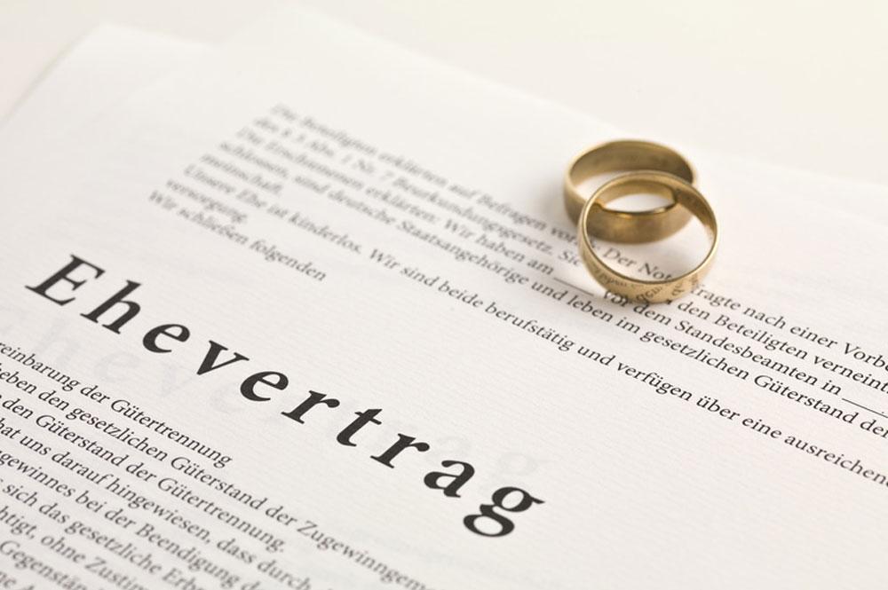 Ehevertrag vom Rechtsanwalt für Familienrecht