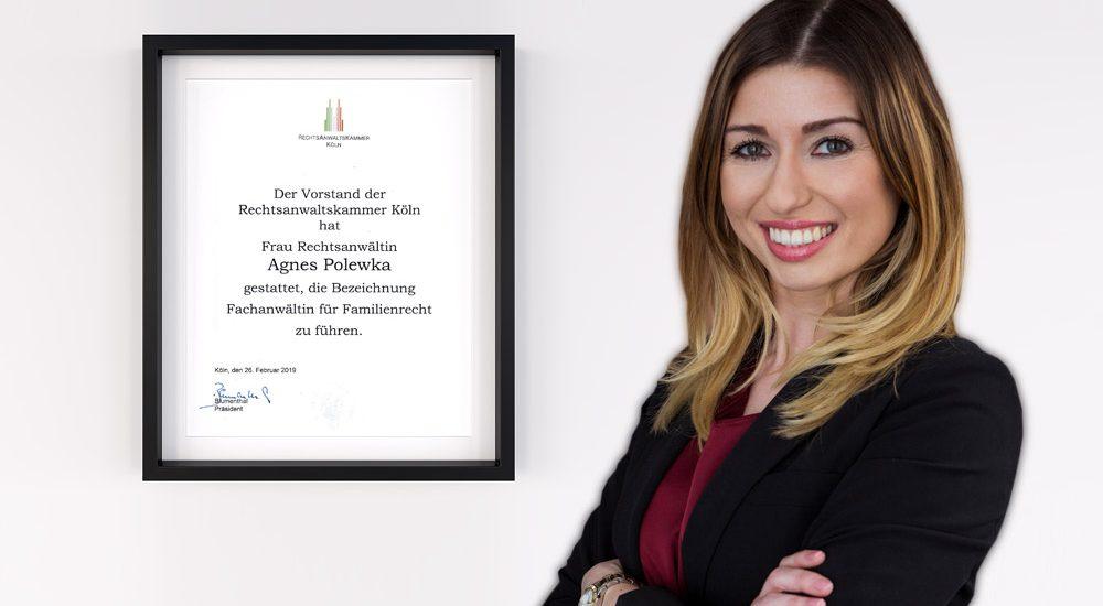 Fachanwältin/ Fachanwalt für Familienrecht Agnes Polewka